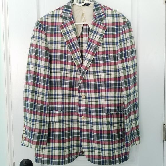 Brooks Brothers Other - Brooks Brothers Madras Linen Jacket Baird …